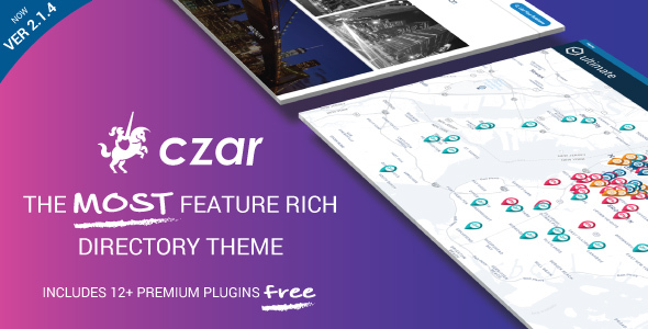Czar - Directory & Listing WordPress Theme