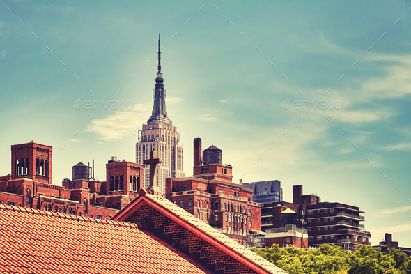 New York City skyline, USA. - Stock Photo - Images