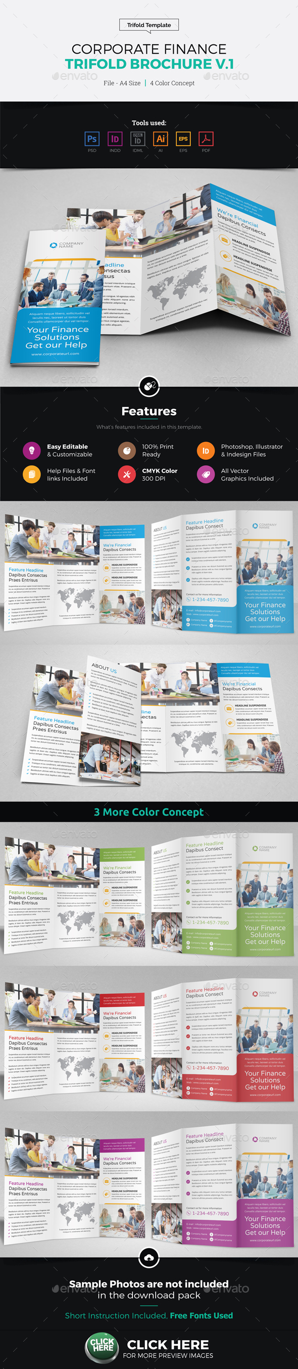 Corporate Finance Trifold Brochure v1 - Corporate Brochures