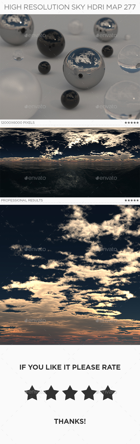 High Resolution Sky HDRi Map 277 - 3DOcean Item for Sale