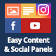 Easy Content & Social Panels for WP Bakery Page Builder (formerly Visual Composer)