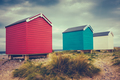 British Retro Beach Huts - PhotoDune Item for Sale