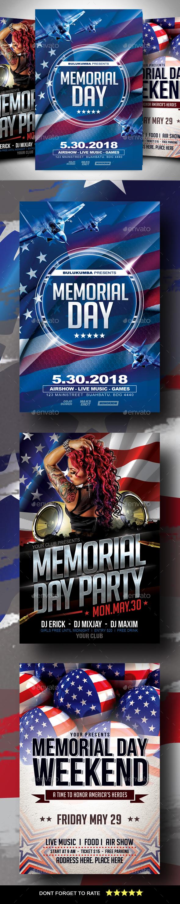 Memorial Day Flyer Bundle - Events Flyers