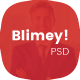 Blimey! - Single Page Corporate PSD Template - ThemeForest Item for Sale