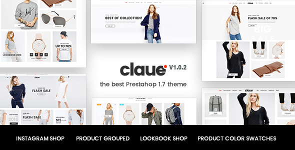 Image of Claue - Clean, responsive Prestashop 1.7 theme