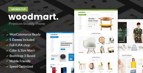 Image of Woodmart - Responsive Shopify Template