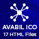 Avabil ICO – Blockchain and Cryptocurrency Landing Page HTML Template - ThemeForest Item for Sale