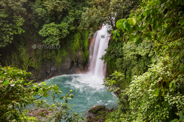 Waterfall in Costa Rica - Stock Photo - Images
