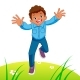 Happy Kid Running - GraphicRiver Item for Sale