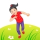 Little Girl Running - GraphicRiver Item for Sale