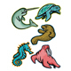 Aquatic Animals and Marine Mammals Collection - GraphicRiver Item for Sale