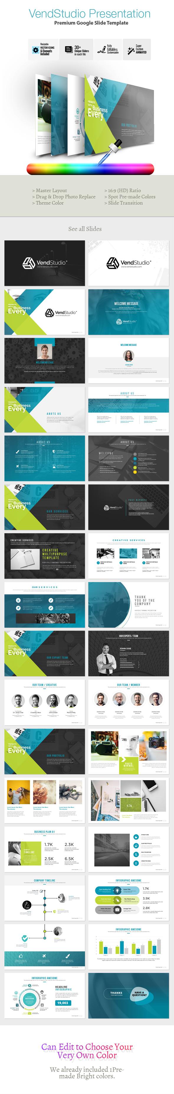 VendStudio Google Slide Template - Google Slides Presentation Templates