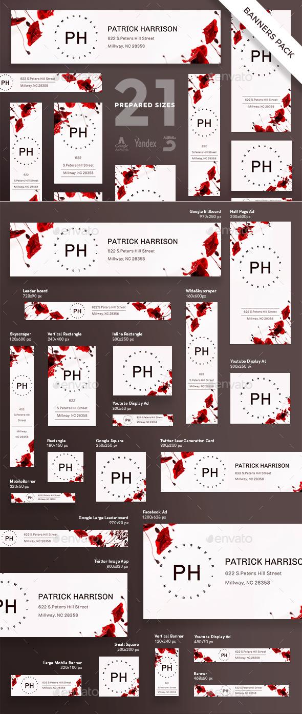 Womenswear Designer Banner Pack - Banners & Ads Web Elements