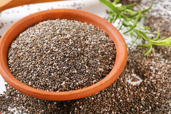 healthy chia seeds - Stock Photo - Images