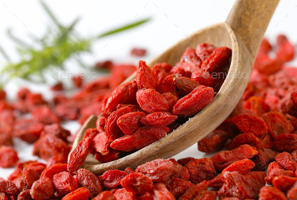 dried goji berries - Stock Photo - Images