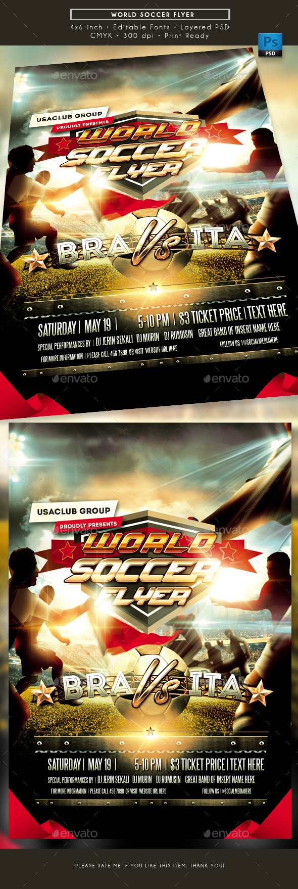 World Soccer Cup Flyer - Sports Events