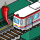 Pixel Art Tram and Station Pack