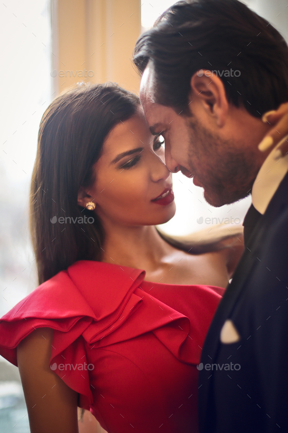 Lovely elegant couple - Stock Photo - Images