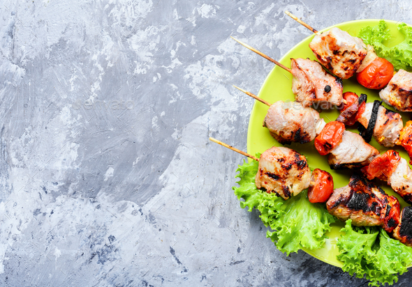Appetizer kebab,grilled meat - Stock Photo - Images