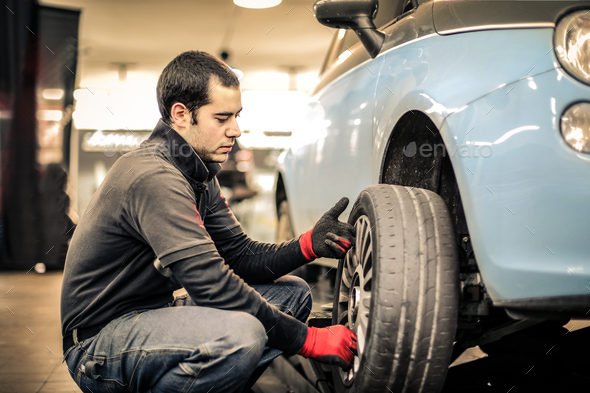 Mechanic at work - Stock Photo - Images