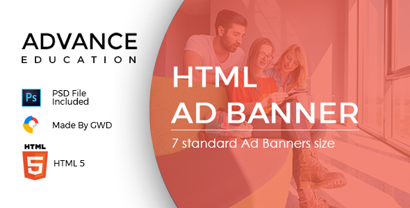 Advance Education  | HTML 5 Animated Google Banner            Nulled
