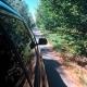 Asphalt Road with Cars Passing Through the Forest - VideoHive Item for Sale