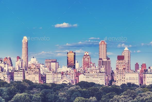 New York City Upper East Side skyline, USA. - Stock Photo - Images