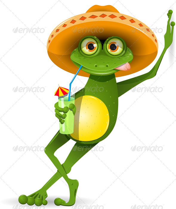 Frog in a Hat - Animals Characters