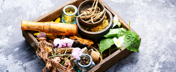 Alternative herbal medicine - Stock Photo - Images