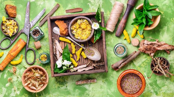 Alternative herbal medicine - Stock Photo - Images