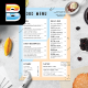 Summer Food Menu - GraphicRiver Item for Sale