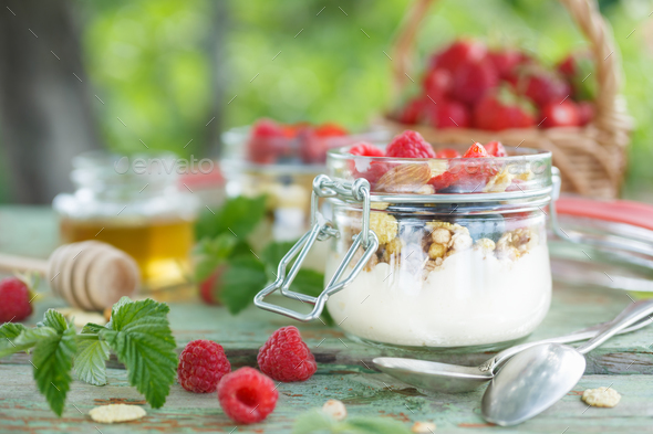 Delicious yogurt   - Stock Photo - Images