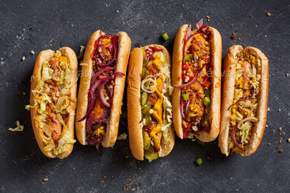 Hot dogs  - Stock Photo - Images