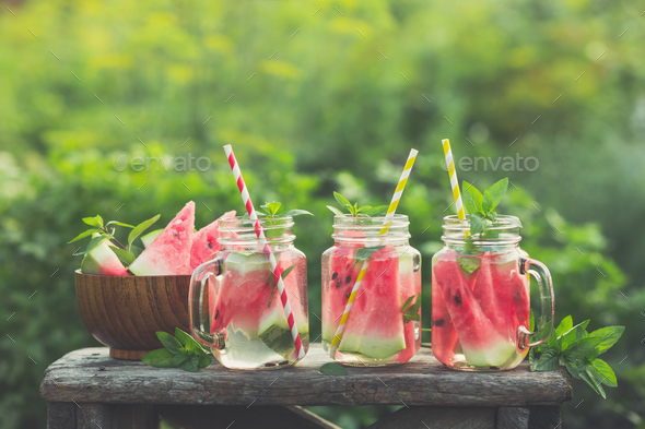 Watermelon beverages  - Stock Photo - Images