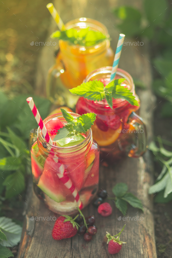 Summer soft drinks  - Stock Photo - Images