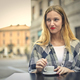 Woman drinking coffee outdoor - PhotoDune Item for Sale