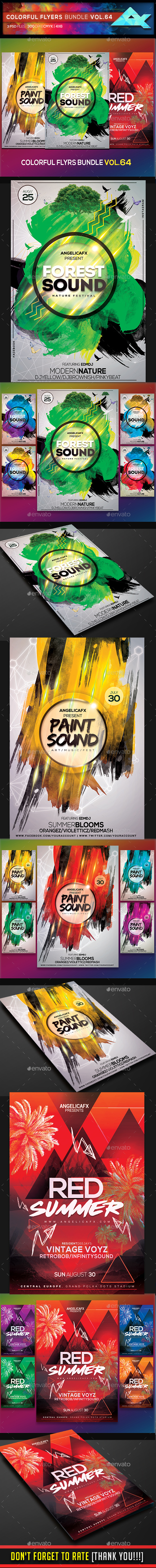 Colorful Flyers Bundle Vol. 64 - Events Flyers