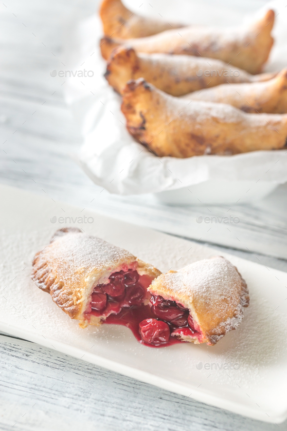 Cherry empanadas  - Stock Photo - Images