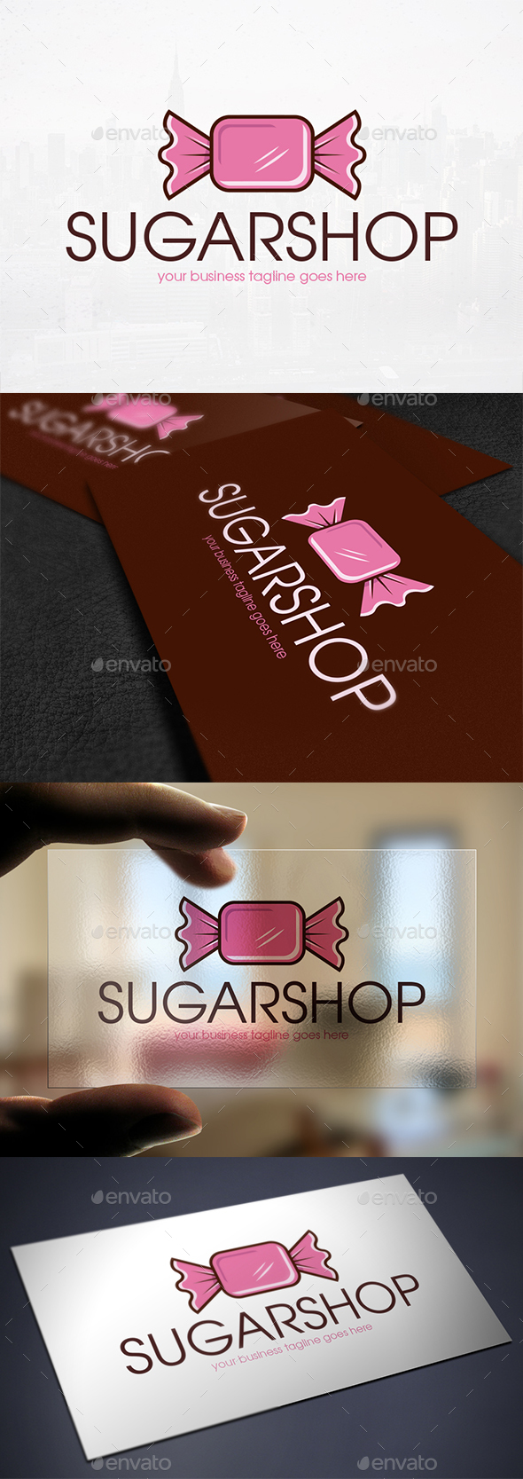 Sweet Candy Logo Template - Food Logo Templates