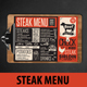 Steak Food Menu - GraphicRiver Item for Sale