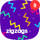 Colored Irregular ZigZags Seamless Patterns / Backgrounds