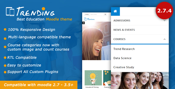 Image of Trending - High Quality Responsive Moodle Theme