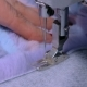 Tailor Sewing Fur Coat with Sewing Machine - VideoHive Item for Sale