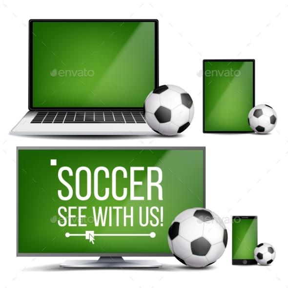 Soccer Application Vector - Sports/Activity Conceptual
