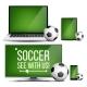 Soccer Application Vector