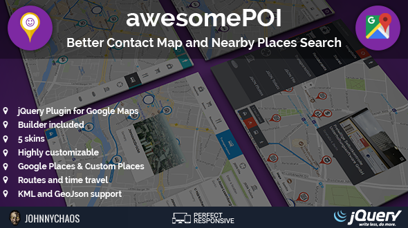 awesomePOI - Better Contact Map and Nearby Places Search jQuery Plugin - CodeCanyon Item for Sale