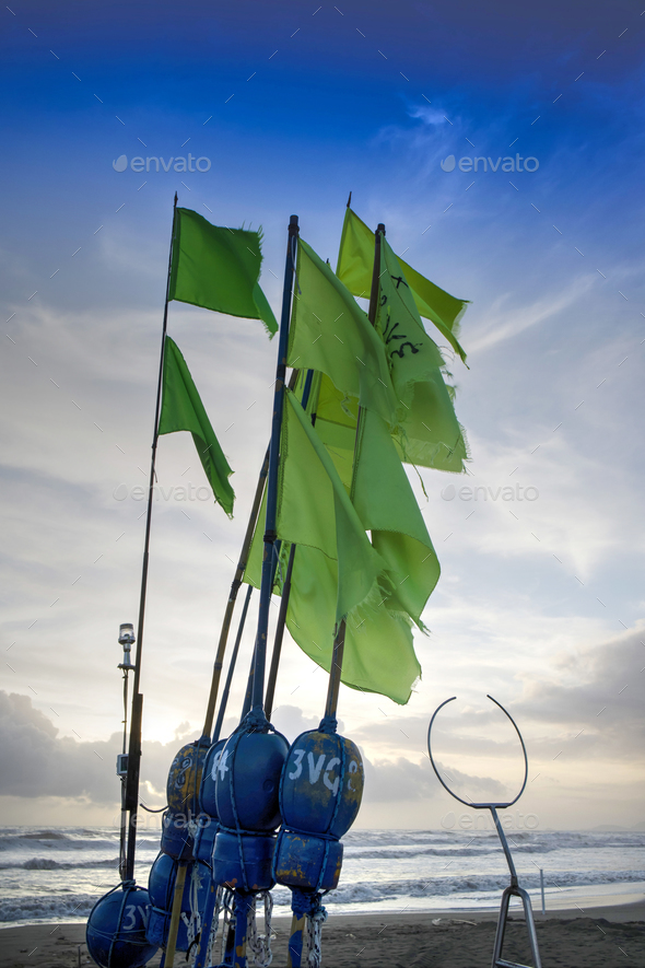 Flag for fishing - Stock Photo - Images