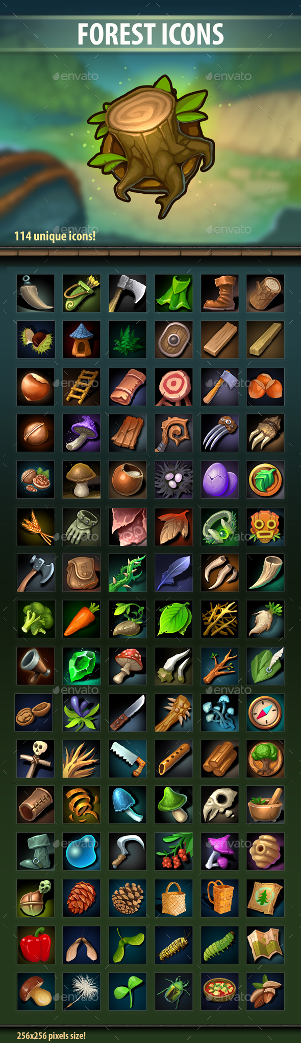 Forest Icons - Miscellaneous Game Assets