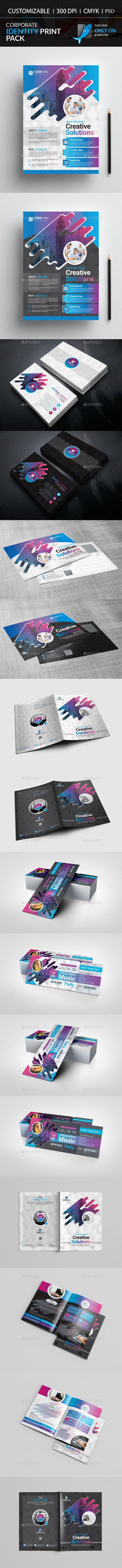 Corporate Identity Pack Print Pack - Brochures Print Templates