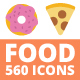 560 Food Icons - GraphicRiver Item for Sale